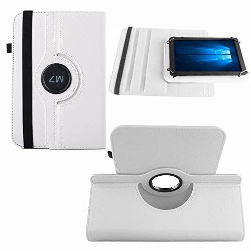 NAUC Tablet Hülle für Blaupunkt Atlantis Discovery 1001A Tasche Schutzhülle Hülle Cover, Farben:Weiss