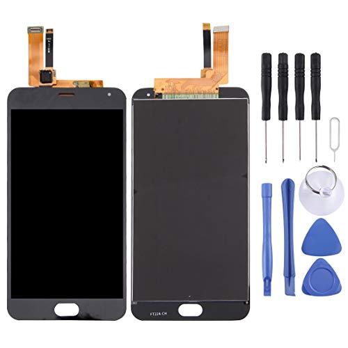 JSANSUI Kit de reemplazo de la batería Pantalla LCD de Repuesto de Pantalla táctil + digitalizador Asamblea, for Meizu M2 Nota (Color : Negro)