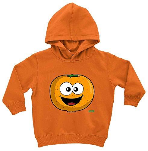 Hariz - Sudadera con capucha para bebé, diseño de mandarina, dulce y riendo Coche de juguete naranja. 2 mes