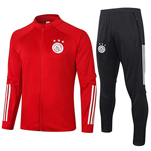 LZMX Ajax Langarm Jacke + Hosen Sportswear Anzug Football Club Offizielle Fußball Geschenk Herren 2-teilige Trainingsanzug Track Anzug (Color : B, Size : M)