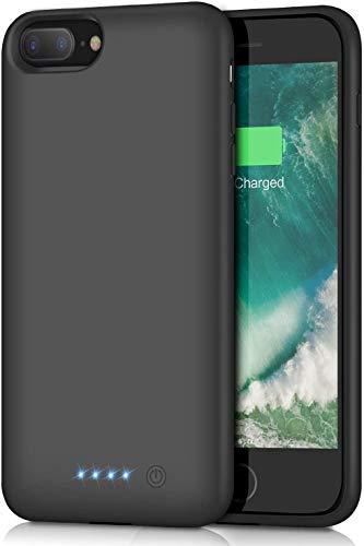 Funda Batería para iPhone 8 Plus/7 Plus/6S Plus/6 Plus, QTshine [8500mAh] Funda Cargador Portatil Recargable Batería Externa Carcasa Batería para iPhone 8 Plus/7 Plus/6S Plus/6 Plus [5.5 Pulgadas]