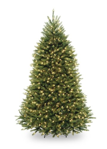 National Tree 6.5 Foot Dunhill Fir Tree with 650 Clear Lights, Hinged (DUH-65LO)