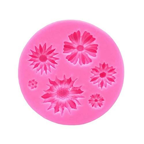 Sanmeiyang - Molde de silicona con forma de flores para chocolate, dulces, flores de Navidad