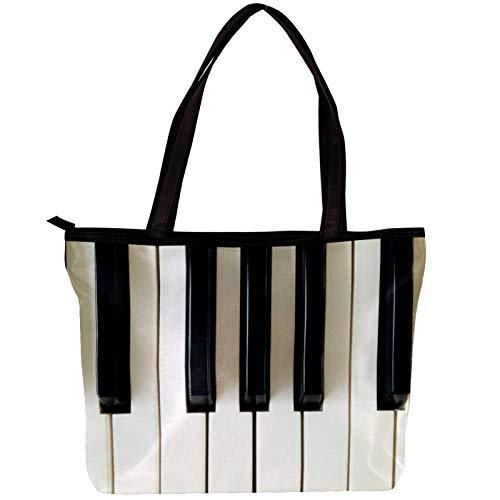 Vockgeng Hobo Taschen für Frauen Altes Klavier Damen Handtasche Shopper Handtasche Elegant Groß Damen Tasche für Büro Schule Einkauf 30x10.5x39cm