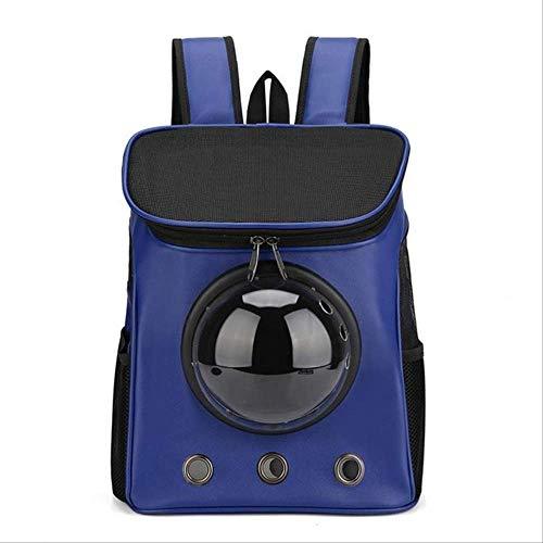 yitan Transportin Gato Pequeño Ventana Astronauta Bolsa para Gato Mochila Portador para Cápsula Corp Cápsula Perros Buggy Moda Mascota Trave En Forma como se Muestra Azul