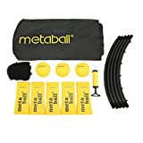 F Fityle Spike Bounce Volleyball Trampoline Ball Game Set for Family Beach Lawn Patio Game Set (Includes 3 Balls, Carrying Case and Rules)
