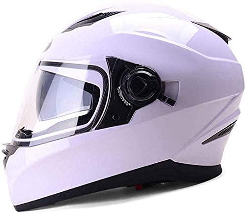 LAMZH Casco de motocicleta portátil para hombre y mujer, casco universal, antivaho, 30 x 22 x 26 cm, protección