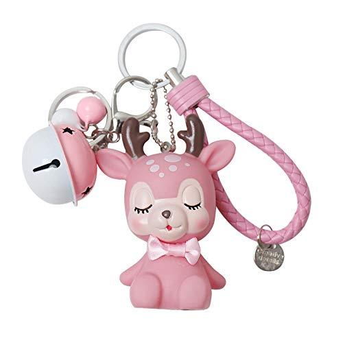 ZHDIN Kreative Fawn Keychain Software Elk Keychain weibliche Tasche Anhänger Grab Machine Doll kleines Geschenk