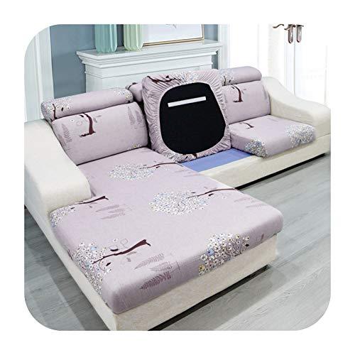 ZaHome Agrandar tamaño sofá asiento funda cojín para sala de estar elástico spandex a prueba de polvo funda funda sofá colchón chaise longue árboles-Plus ancho tamaño