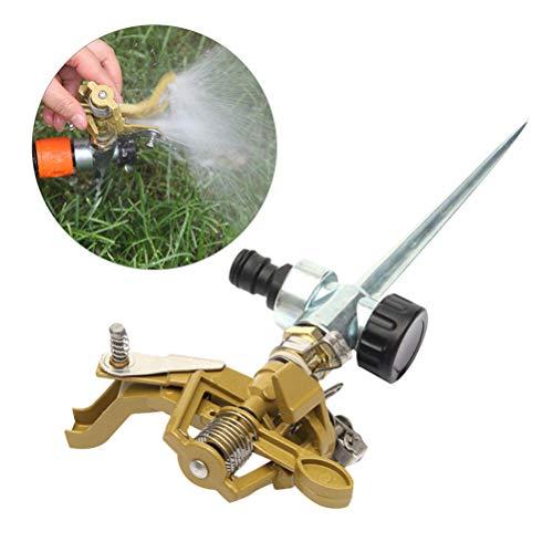 Yardwe Aspersores de riego Jardin automatico cesped aspersor de 360 Grados para el jardín, aspersor Giratorio al Aire Libre para el Sistema de irrigación del césped