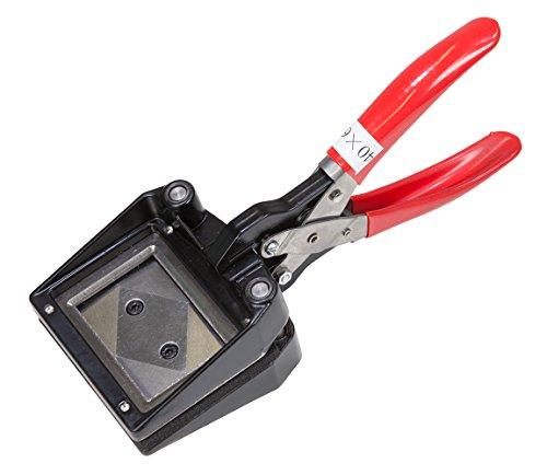 NOMIS Passbildstanze 40mm x 60mm mit 90° Ecken/Stanzzange Fotostanze Photo Cutter