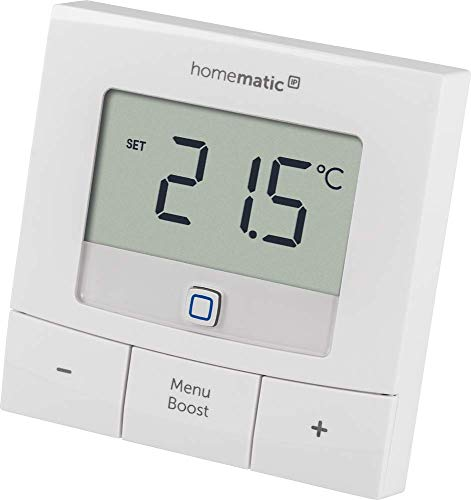 Homematic IP Smart Home Wandthermostat - basic, mit großem Display, 154666A0