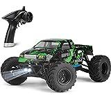 ラジコンカー HBX リモコンカー 1/18 スケール 4WD RTR 電動RCカー 2.4Ghz無線操作 40 km/h 高速車 RCバギー オンロード 二つのスピードモード オフロード レーシング ロッククローリング オールテレーン防水トラック 付属のバッテリーと充電器 愛好家や初心者へのギフトに最適です(グリーン)