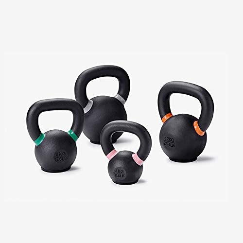 Kettlebell SYY Matte Ghisa Manubrio, Gomma Base, Forza Training Device, 4 kg / 8.8lb, 8kg / 17.6lb, 12kg / 26.4lb, 16kg / 35.2lb (Size : 4kg)