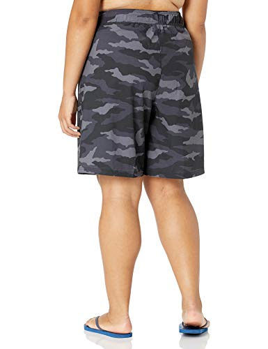 Kanu Surf Women's Plus-Size Marina Solid Stretch Boardshort, Beach Camo Black, 1X