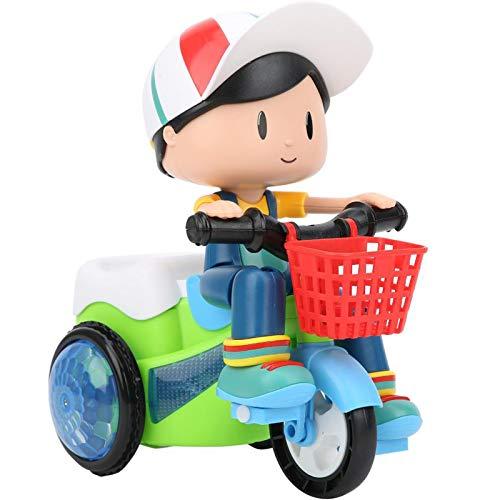 Juguetes de coche para niños pequeños, juguetes de triciclo de trucos eléctricos para niños, música y coche de juguete ligero para niños que puede girar, adecuado para niños mayores de 3 años (chico)