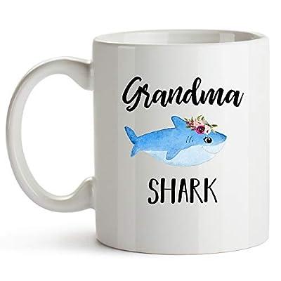 YouNique Designs Grandma Shark Shark Mug 11 Ounce Grandma Shark Coffee Cup