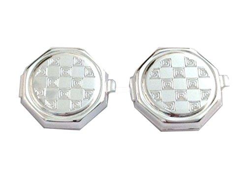 Copri bottoni per Camicia In Argento Massiccio 925-925 Sterling Silver Buttoncovers