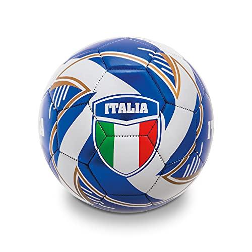 Mondo Toys - Pallone da Calcio cucito TEAM ITALIA - size 5 - 400 g - colore bianco/azzurro - 13408