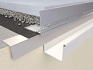 PROTEKTOR Grind stopstang 50 x 70 mm AL 80, dikte 1,0 mm, lengte 250 cm