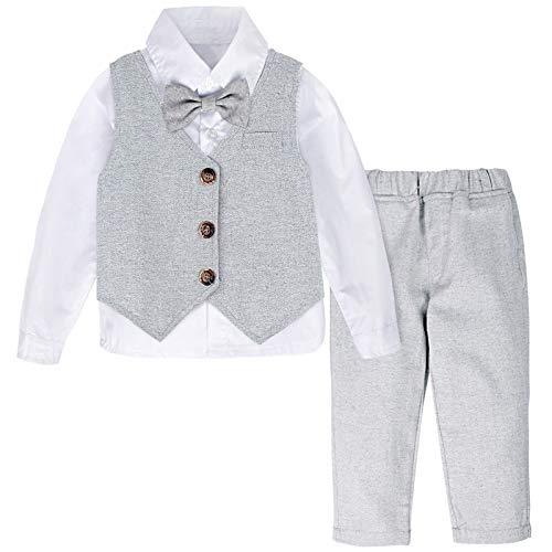 mintgreen Neugeborene Herbst Gentleman Anzug Set, Hellgrau, 12-18 Monate (Herstellergröße : 80)