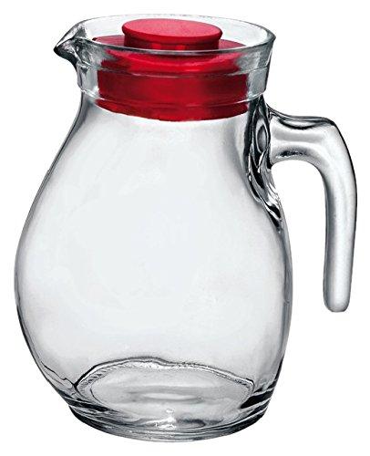 Bormioli Rocco BOR103 keukenaccessoires, kan glazen kan 144 cl met rode deksel