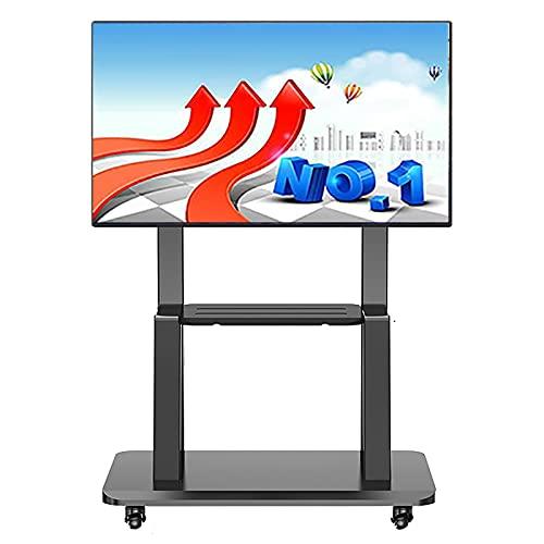 SSZY Soporte TV Trole Soporte de TV Móvil con Ruedas para Dormitorio, Carro de TV con Ruedas Negro para TV de 70/65/60/55/50/45/43/32 Pulgadas, Soporte Universal para TV Moderno Independiente