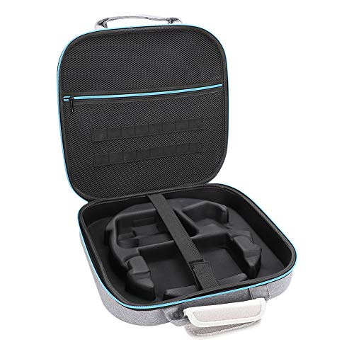 Bolsa de Almacenamiento para NS Switch Ring-con, Bolsa de protección Impermeable portátil Multiusos Anillo Fit Adventure Travel Bag EVA Fitness Ring Accesorios Bolsa con Cremallera(Gray)
