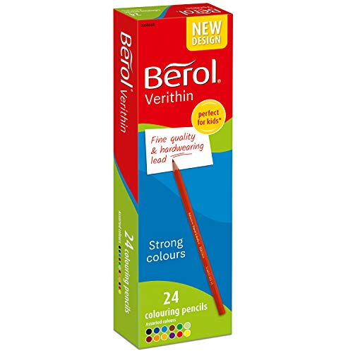 Berol Verithin Coloured Pencils, Assorted Colours, Pre Sharpened, 24 Count
