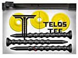 YATTA GOLF Telos Premium Golf Tees – Adjustable Golf Tees – Tee Off with Greater Consistency & Shoot Better Scores - Unbreakable Golf Tees – Lasts The Average Golfer A Season (3 Pack, Sunny Yellow)