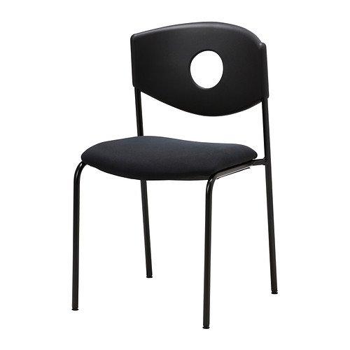 IKEA STOLJAN - Konferenzstuhl, schwarz, Stoff schwarz