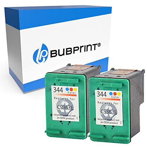 Bubprint 2 Cartuchos de Tinta Compatible para HP 344 HP344 para Deskjet 5740 6500 9800 Officejet 100 150 Mobile K7100 H470 Photosmart 335 8050 8450 Color