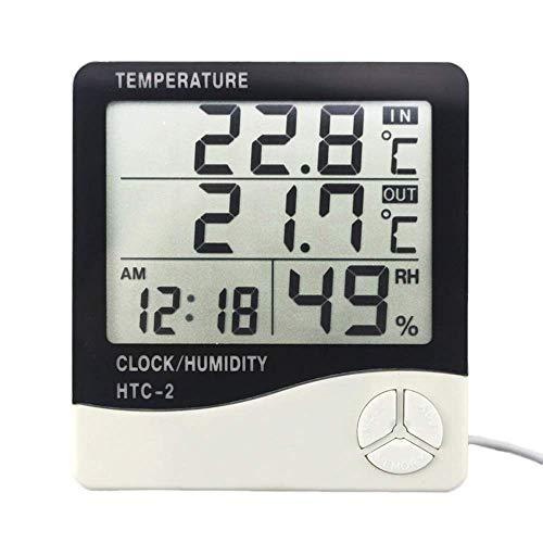 Blanc Fdit Mini LCD Num/érique Thermom/ètre Int/érieur Salle Humidit/é Temp/érature Affichage Mur Max Min /Électronique Hygrom/ètre