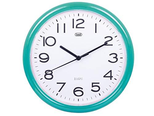 Trevi OM 3301 - Reloj de pared silencioso de 25,5 cm de diámetro con maquinaria de cuarzo, color verde