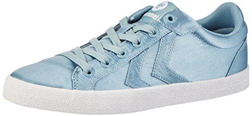 hummel Damen Deuce Court Satin Sneaker, Blau (Stone Blue), 36 EU