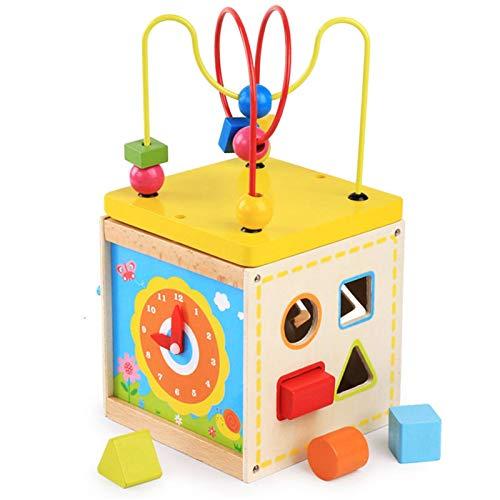 Actividad Cube Bead Maze Juego de juguete de laberinto de abalorios multifuncional conjunto Juego de juguete cúbico muchacho para niños niñas bebé regalo ( Color : Multi-colored , Size : One size )