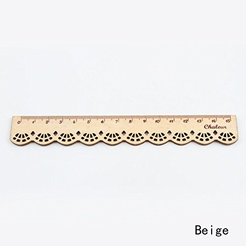 Pasey 1pc Korea Kawaii nette Briefpapier-Spitze Holz Lineal Sewing Lineal, braun