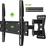 USX MOUNT Full Motion TV Wall Mount with Height Setting for Most 26-55 Inch TVs, TV Mounts with Swivel Tilt Extension, Perfect Center Design Wall Mount TV Bracket, Up to VESA 400x400mm and 80 lbs