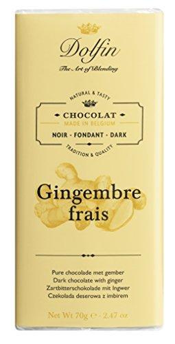 Dolfin Zartbitterschokolade, mit Ingwer