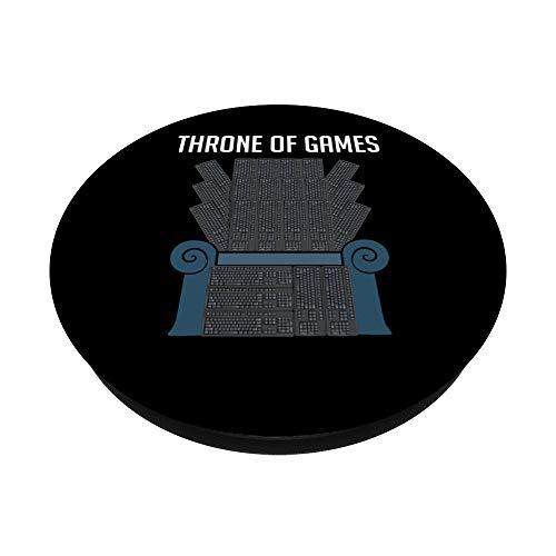 Throne of Games Keyboard Tastatur Gamer Zocken Gaming - PopSockets Ausziehbarer Sockel und Griff für Smartphones und Tablets