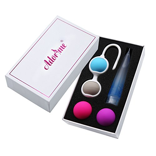 Adorime Kegel Exercise Weights - Ben Wa Kegel Balls Weighted Exercise Kit...