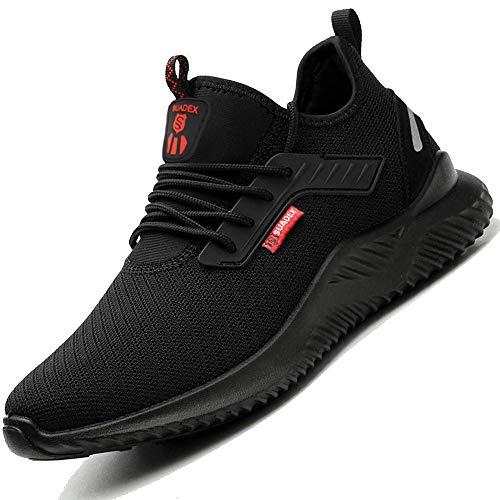 SUADEEX Zapatos de Seguridad Hombre Transpirable Zapatos de Seguridad Mujer Ligeras con Puntera de Acero Zapatos de Trabajo Calzado de Industrial y Deportiva