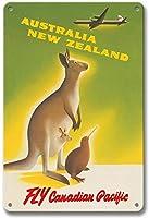 オーストラリアニュージーランド、ティンサインヴィンテージファニークリーチャーアイアンペインティングメタルプレートパーソナリティノベルティ