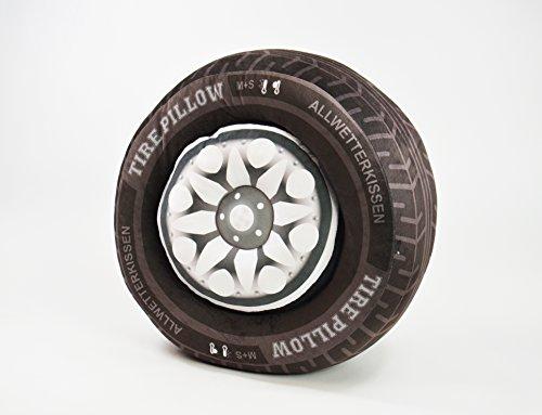 BUSDUGA - Reifenkissen 2 teilig (Reifen und Felge) als Kissen, 2 Größen zur Wahl. (50 x 23 cm)