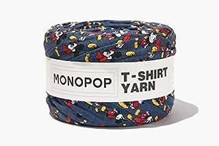 MONOPOP T-SHIRT YARN PRINT モノポップ Tシャツヤーン 柄 ◆KOKOKOREA (MICKEY EIGHT NAVY) [並行輸入品]
