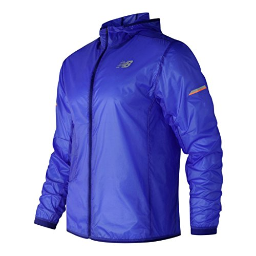 New Balance Men's Light Packable Jacket, Marine Blue, Medium