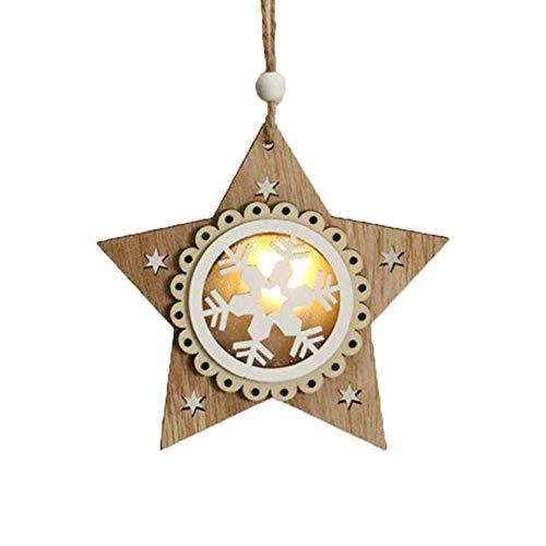 N/ Chytaii. Colgante Navideño de Madera Adornos de Navidade Madera Luminosos DIY Madera Colgante Adornos para Árbol de Navidad y Decoración de Fiesta