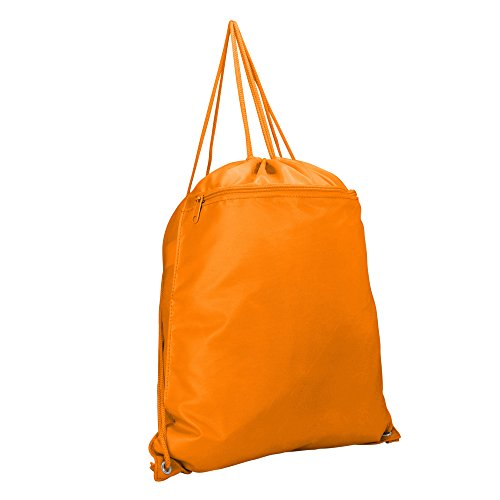 DALIX Drawstring Backpack Sack Bag in Orange