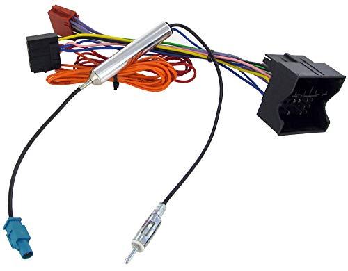 Sound-way ISO Aansluitkabel Conector, Kabel Adapter Autoradio, compatibel met Opel