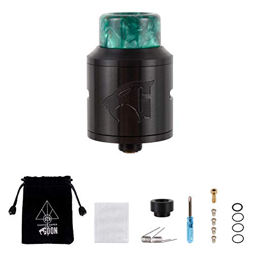 Wolfteeth RDA Clone Goon V1.5 Dripping Atomizador Dual Coil, Sin Nicotina Ni Tabaco, Verde 118309